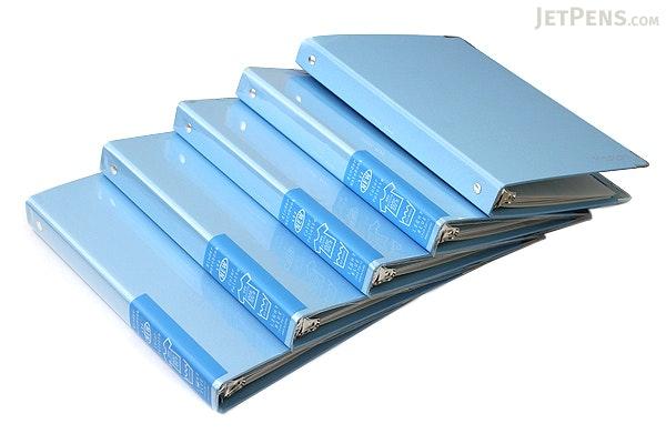 Kokuyo Color Palette Binder - A5 - 20 Rings - Light Blue - Bundle of 5 - KOKUYO RU-105-9Z BUNDLE