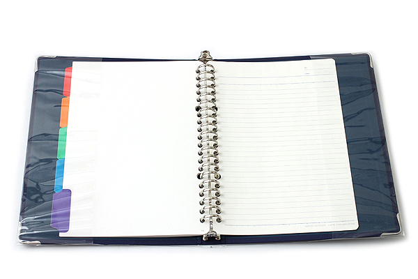 Kokuyo Color Palette Binder - A5 - 20 Rings - Navy - Bundle of 5 - KOKUYO RU-105-2Z BUNDLE