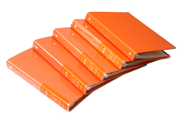 Kokuyo Color Palette Binder - A5 - 20 Rings - Orange - KOKUYO RU-105-6Z