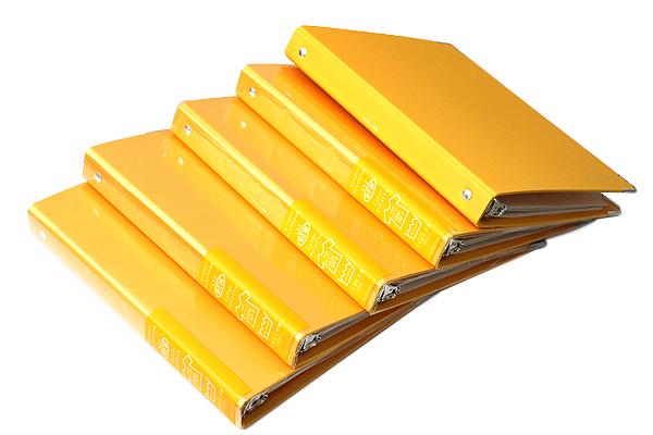 Kokuyo Color Palette Binder - A5 - 20 Rings - Yellow - Bundle of 5 - KOKUYO RU-105-4Z BUNDLE