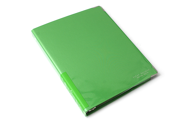 Kokuyo Color Palette Binder - A5 - 20 Rings - Yellow Green - KOKUYO RU-105-5Z