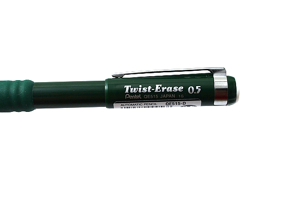 Pentel Twist-Erase III Mechanical Pencil - 0.5 mm - Green Body - PENTEL QE515D