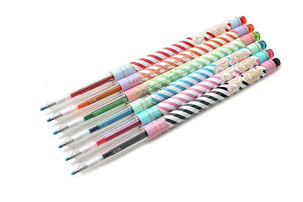 Uni Style Fit Single Color Slim Gel Ink Pen - Majolica Majorca Limited Edition - 0.38 mm - Baby Pink - UNI UMN159MJ38SBP