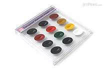 Kuretake Watercolor Palette - 12 Transparent Color Set - KURETAKE WSKG301-2