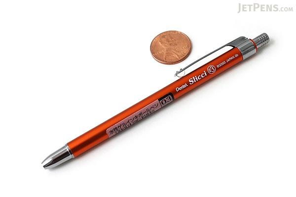 Pentel Slicci Techo Mini Gel Pen - 0.3 mm - Orange Body - Black Ink - PENTEL BG503F-A