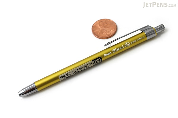 Pentel Slicci Techo Mini Gel Pen - 0.3 mm - Lime Green Body - Black Ink - PENTEL BG503K-A