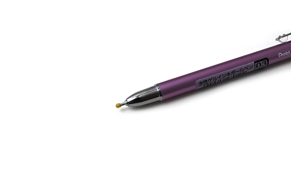 Pentel Slicci Techo Mini Gel Pen - 0.3 mm - Light Purple Body - Black Ink - PENTEL BG503V2-A