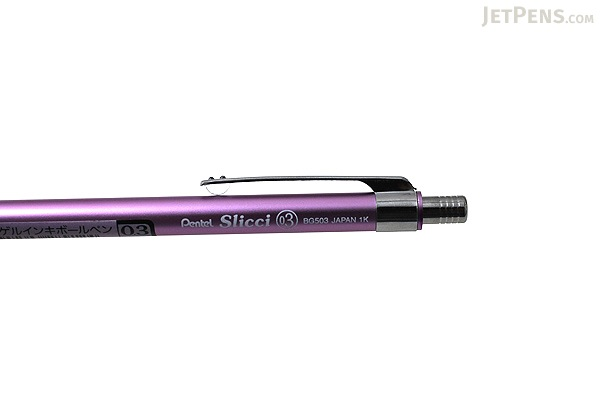 Pentel Slicci Techo Mini Gel Pen - 0.3 mm - Light Purple Body - Black Ink - PENTEL BG503V2-A