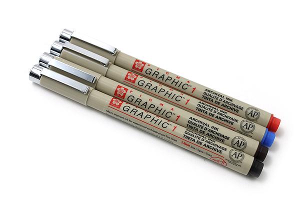 Sakura Pigma Graphic Pen - 1.0 mm - Sepia Ink - SAKURA XSDK1-117