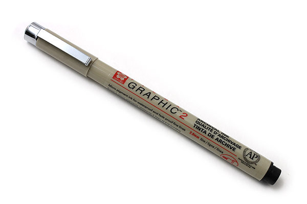 Sakura Pigma Graphic Pen - 2.0 mm Black Ink - SAKURA XSDK2-49