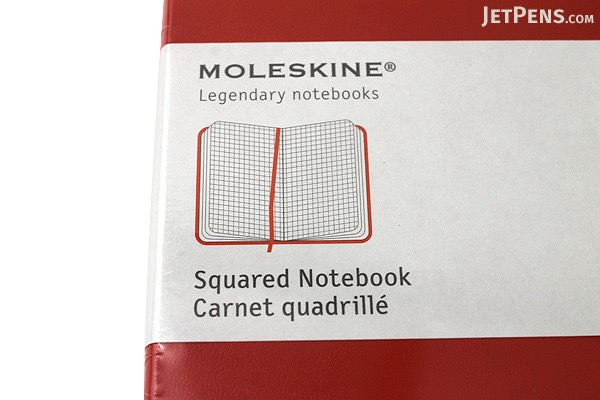 "Moleskine Classic Notebook - Red - 5"" x 8.25"" - 5 mm Graph - MOLESKINE 978-88-6293-033-8"