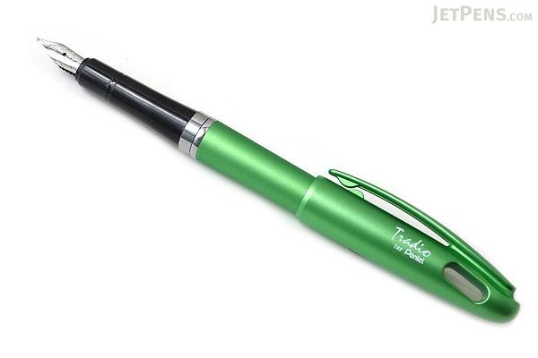 Pentel TRF91 Tradio Fountain Pen - Apple Green Body - Medium Nib - PENTEL TRF91K