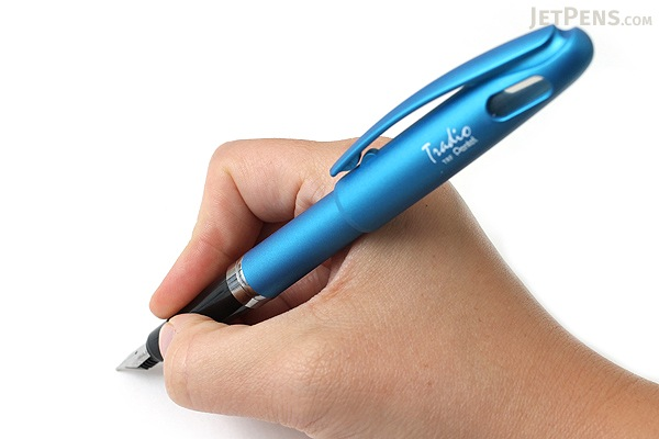 Pentel TRF91 Tradio Fountain Pen - Azure Blue Body - Medium Nib - PENTEL TRF91S