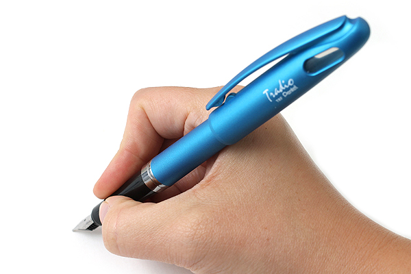 Pentel TRF91 Tradio Fountain Pen - Medium Nib - Azure Blue Body - Blue Ink - PENTEL TRF91S