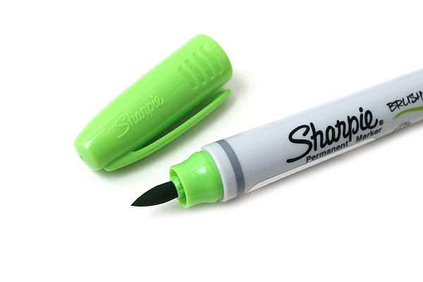 Sharpie Brush Tip Permanent Marker - Lime - SHARPIE 1810710