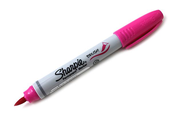 Sharpie Brush Tip Permanent Marker - Magenta - SHARPIE 1810706