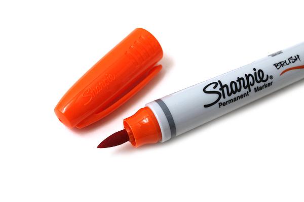 Sharpie Brush Tip Permanent Marker - Orange - SHARPIE 1810708