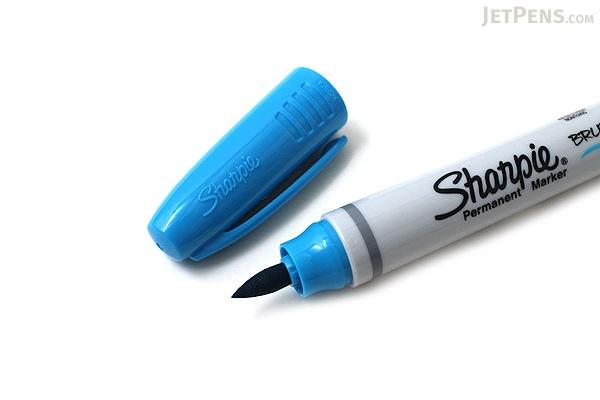 Sharpie Brush Tip Permanent Marker - Turquoise - SHARPIE 1810709