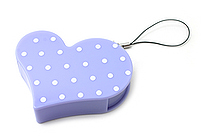 Nichiban Heart-Shaped Tape Dispenser - Lavender - 15 mm X 8 m - NICHCIBAN TC-15HLD