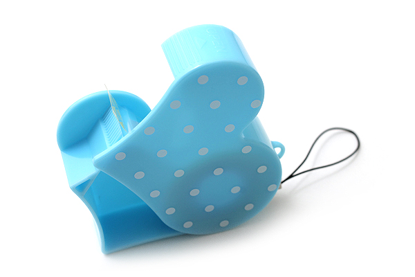 Nichiban Heart-Shaped Tape Dispenser - Sky Blue - 15 mm X 8 m - NICHCIBAN TC-15HSB