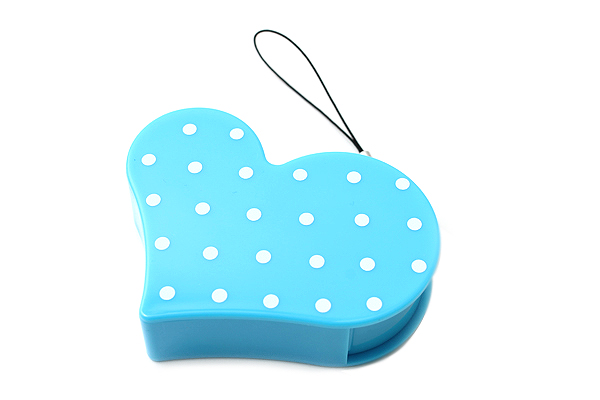 Nichiban Heart-Shaped Tape Dispenser - Turquoise Blue - 15 mm X 8 m - NICHCIBAN TC-15HTB
