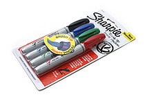Sharpie Brush Tip Permanent Marker - Basic 4 Color Set - SHARPIE 1810701