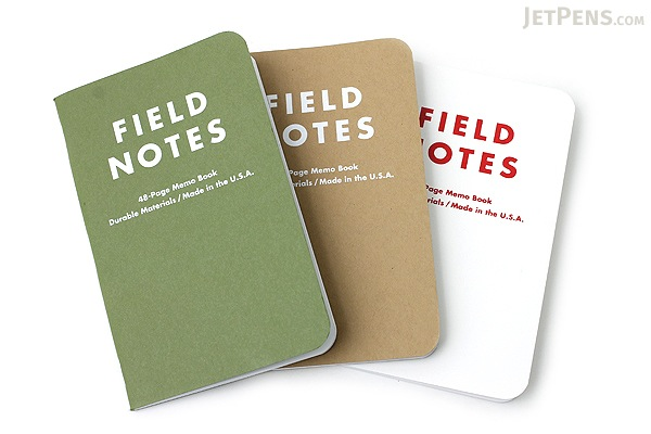 """Field Notes Color Cover Memo Book - Day Game - 3.5"""" X 5.5"""" - 48 Pages - 5 mm Dot Grid - Pack of 3 - FIELD NOTES FNDG-01"""