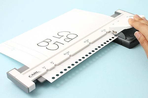 Carl Neo Gauge 26-Hole or 30-Hole Punch - Gray - CARL GP-130N-D