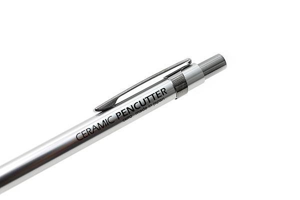 Ohto Retractable Pen-Style Ceramic Cutter - Silver Body - OHTO CP-8 SV