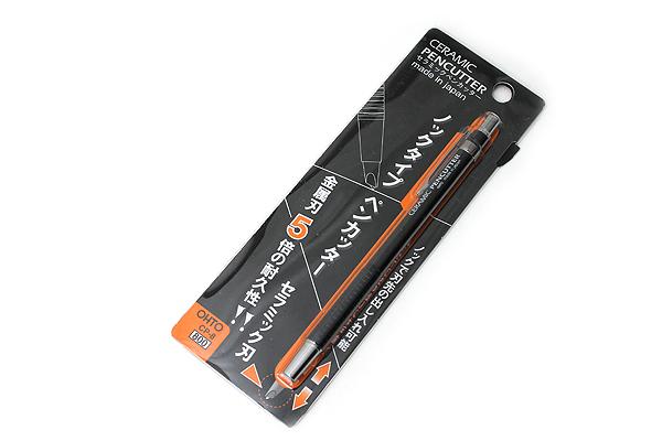 Ohto Retractable Pen-Style Ceramic Cutter - Black Body - OHTO CP-8 BK