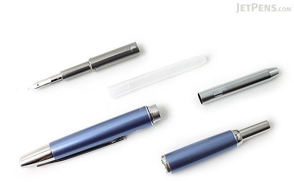 Pilot Vanishing Point Decimo Fountain Pen - Light Blue - 18K Gold Fine Nib - PILOT FCT-15SR-LB-F