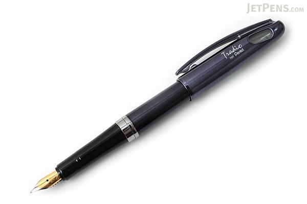 Pentel TRF100 Tradio Fountain Pen - Medium Nib - Black Pearl Body - Blue Ink - PENTEL TRF-100