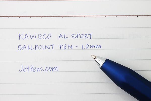 Kaweco AL Sport Ballpoint Pen - 1.0 mm - Matte Blue Body - KAWECO 10000407