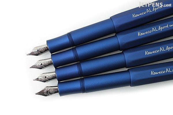 Kaweco AL Sport Fountain Pen - Matte Blue - Fine Nib - KAWECO 10000331