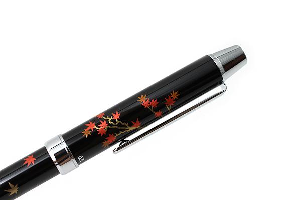Pilot 2+1 Miyabi Emaki 2 Color 0.7 mm Ballpoint Multi Pen + 0.5 mm Pencil - Autumn Foliage & Pagoda - PILOT BTHM-3SR-MG