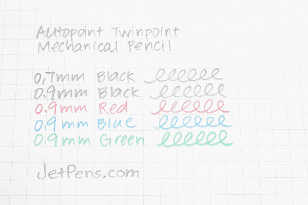 Autopoint Twinpoint Mechanical Pencil - 0.9 mm - Black Body - Black & Red Lead - AUTOPOINT 200-1