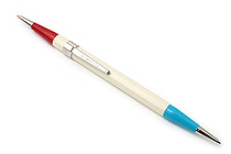 Autopoint Twinpoint Mechanical Pencil - 0.9 mm - Ivory Body - Blue & Red Lead - AUTOPOINT 203-1