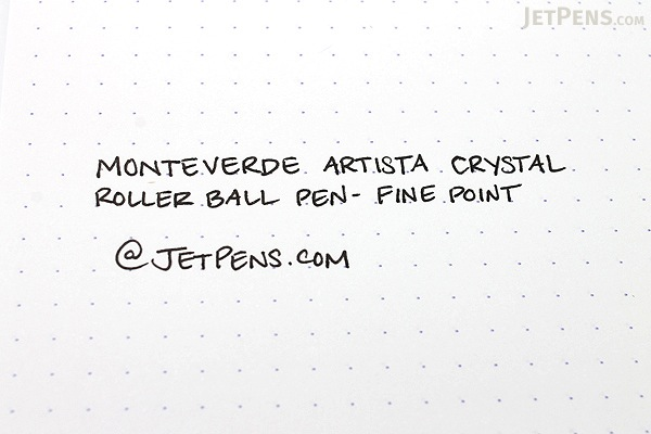 Monteverde Artista Crystal Roller Ball Pen - Fine Point - Transparent Clear Body - Black Ink - MONTEVERDE MV26801