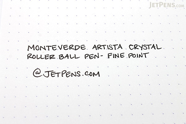 Monteverde Artista Crystal Roller Ball Pen - Fine Point - Transparent Clear Body - Black Ink - MONTEVERDE MV26801