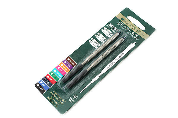 Monteverde Soft Roll Ballpoint Pen Refill for Lamy - Blue Black - Pack of 2 - MONTEVERDE L132BB
