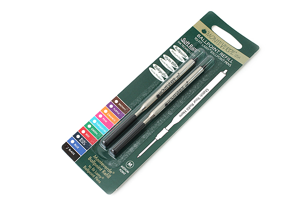 Monteverde Soft Roll Ballpoint Pen Refill for Lamy - Black - Pack of 2 - MONTEVERDE L132BK