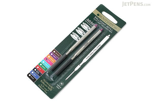 Monteverde Soft Roll Ballpoint Pen Refill for Lamy - Pink - Pack of 2 - MONTEVERDE L132PK