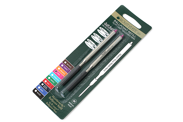 Monteverde Soft Roll Ballpoint Pen Refill for Lamy - Pink - Pack of 2 - MONTEVERDE L132PK