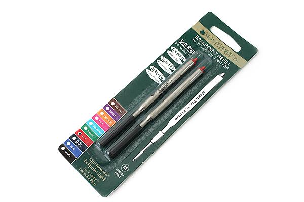 Monteverde Soft Roll Ballpoint Pen Refill for Lamy - Red - Pack of 2 - MONTEVERDE L132RD