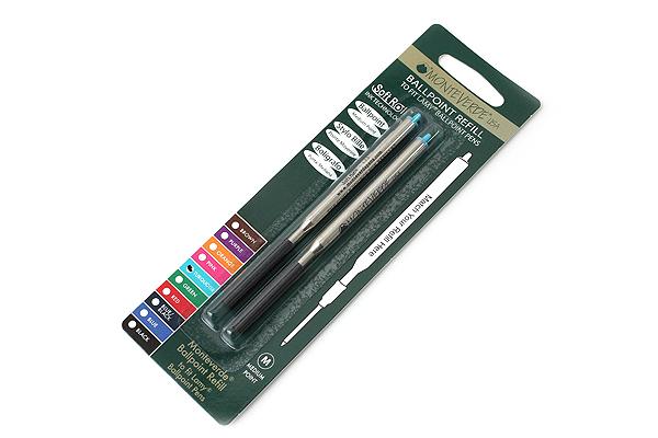 Monteverde Soft Roll Ballpoint Pen Refill for Lamy - Turquoise - Pack of 2 - MONTEVERDE L132TQ