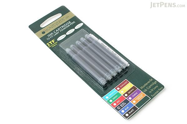 Monteverde Fountain Pen Ink Cartridge for Lamy - Blue Black - Pack of 5 - MONTEVERDE L302BB
