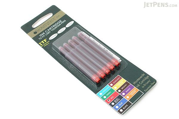 Monteverde Fountain Pen Ink Cartridge for Lamy - Red - Pack of 5 - MONTEVERDE L302RD