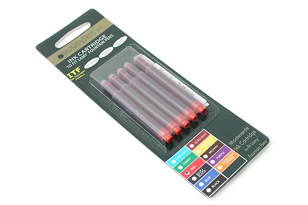 Monteverde Fountain Pen Ink Cartridge for Lamy - Red - Pack of 5 - MONTEVERDE L302RD