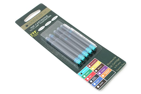 Monteverde Fountain Pen Ink Cartridge for Lamy - Turquoise - Pack of 5 - MONTEVERDE L302TQ