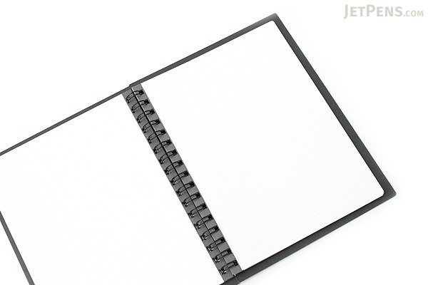 Kokuyo CamiApp Twin Ring Notebook - A6 - 5 mm Graph - KOKUYO SU-TCA92SN